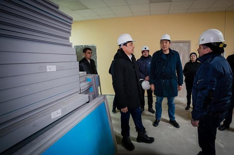 Елорда әкімі 5 мектепте салынған жаңа ғимараттардың құрылысын тексерді