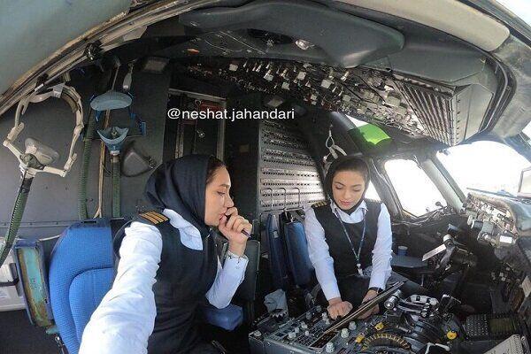 Впервые в Иране две женщины пилотировали пассажирский самолет