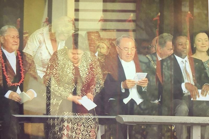 Первый Президент Казахстана прибыл в Императорский дворец для участия в церемонии
