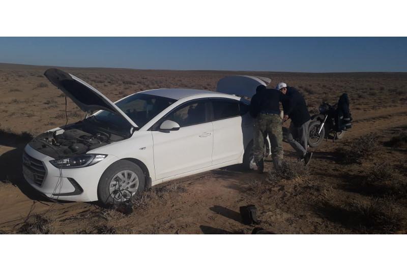 Заблудившейся в степи семье из Нур-Султанапомогли полицейские Туркестанской области