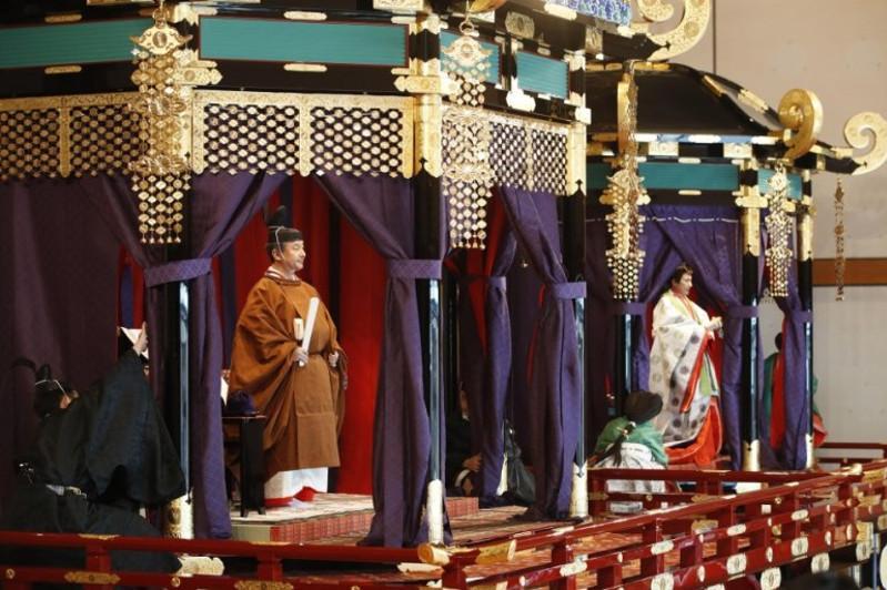 """日本天皇举行""""即位礼正殿之仪""""宣告即位"""