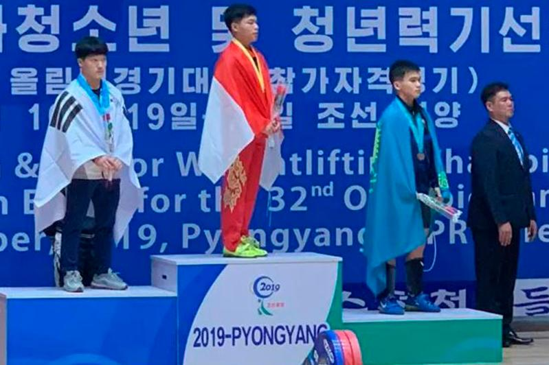Kazakh weightlifter pockets bronze at Asian Youth Championships