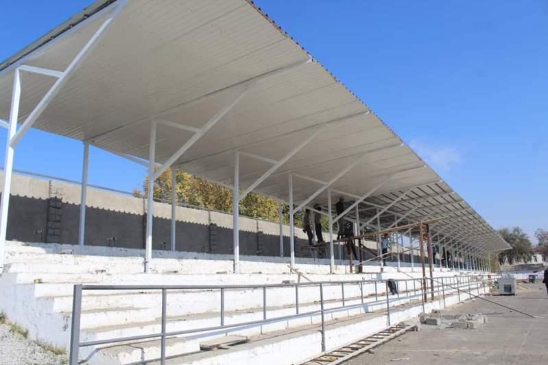 Түркістан облысының Келес ауданында Орталық стадион жаңартылуда