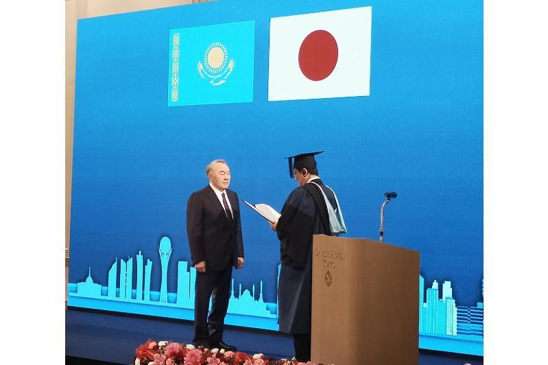 Nursultan Nazarbayev becomes Honorary Doctor of Tsukuba University