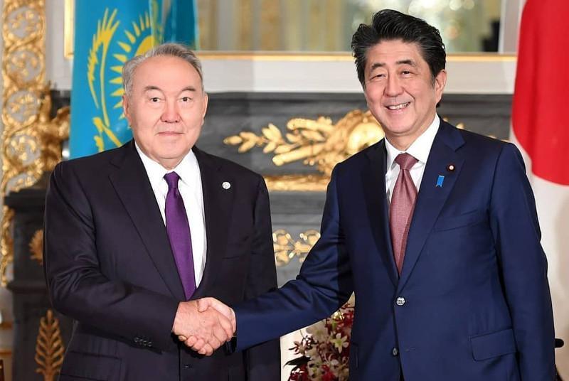 N. Nazarbayev holds talks with Japanese PM Shinzo Abe