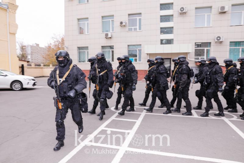 Личный состав полиции Нур-Султана прошел учебно-тренировочные сборы