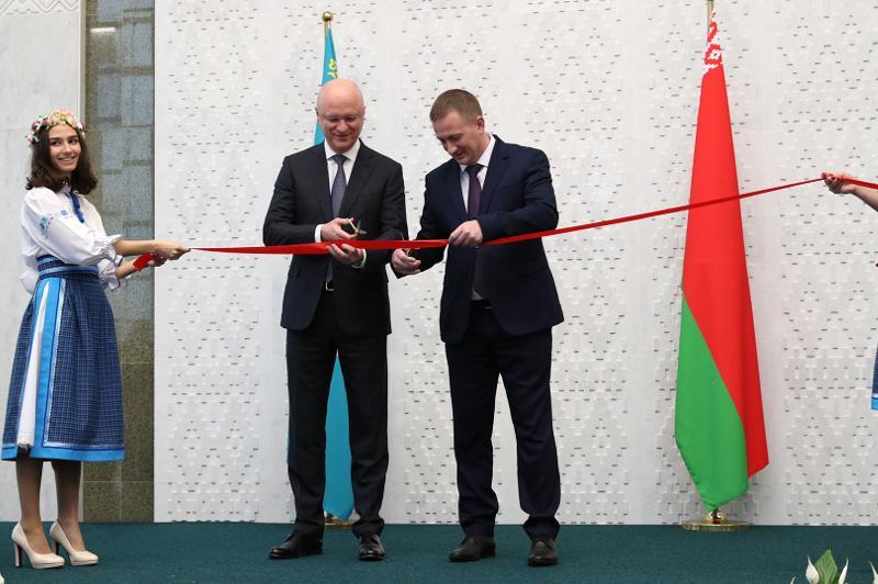 白俄罗斯驻哈大使馆举行新馆开馆仪式