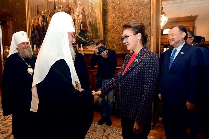 参议院议长会见莫斯科及全俄罗斯东正教大牧首基里尔