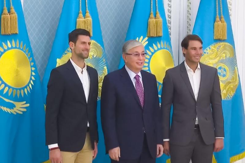 Video of President Tokayev's meeting with renowned tennis stars