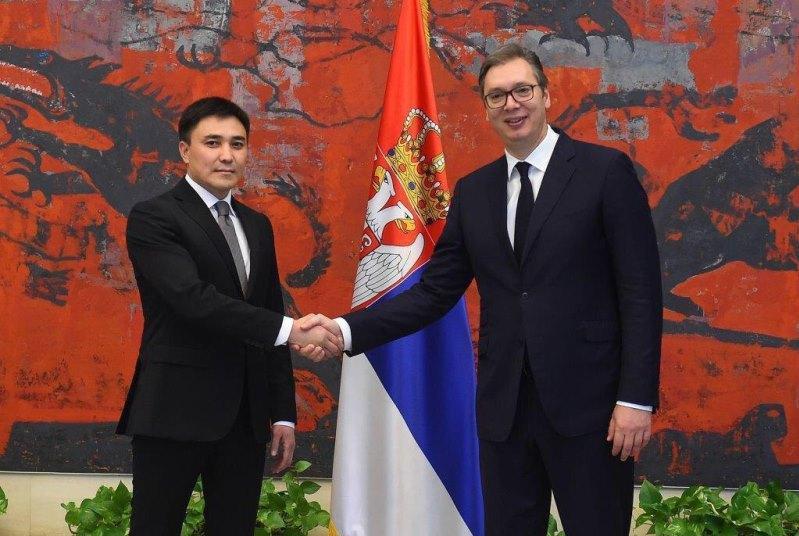 哈萨克斯坦大使向塞尔威亚总统递交国书