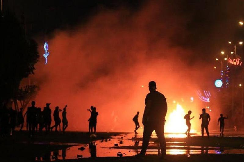 Разгон забастовки в иракской Кербеле, есть жертвы