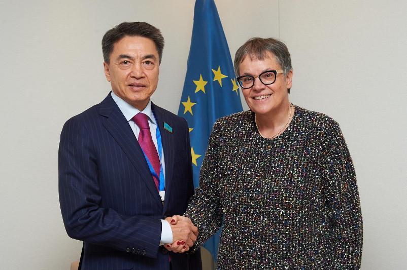 参议院副议长在斯特拉斯堡会见欧洲委员会议会大会主席