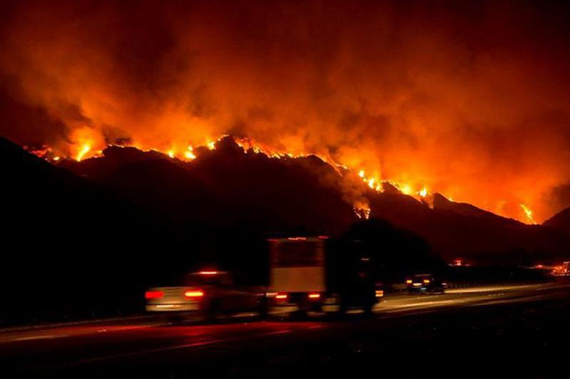 California fires tear into LA as Sonoma inferno rages