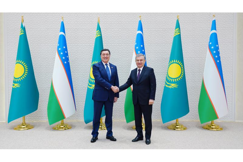 Асқар Мамин Өзбекстан Президенті Шавкат Мирзиеевпен келіссөздер өткізді