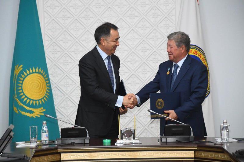 Ахметжан Есімов пен Бақытжан Сағынтаев ынтымақтастық туралы меморандумға қол қойды