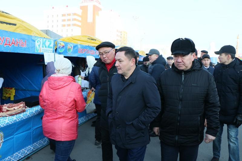 Свыше 75 тонн продукции представили на сельхозярмарке в Кокшетау