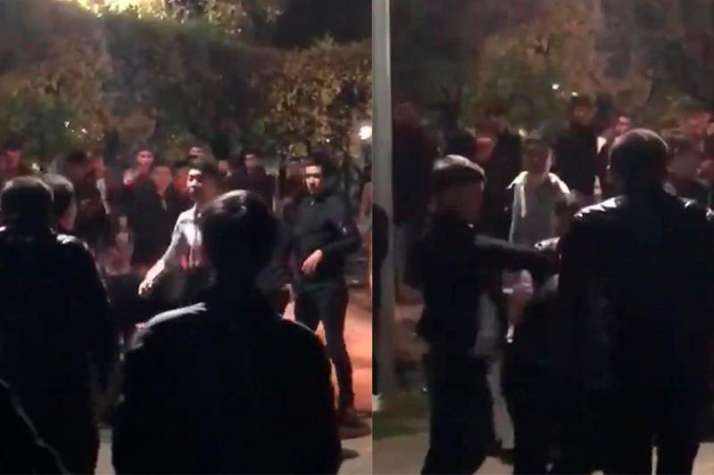 Молодежь ночью устроила массовую драку в центре Алматы