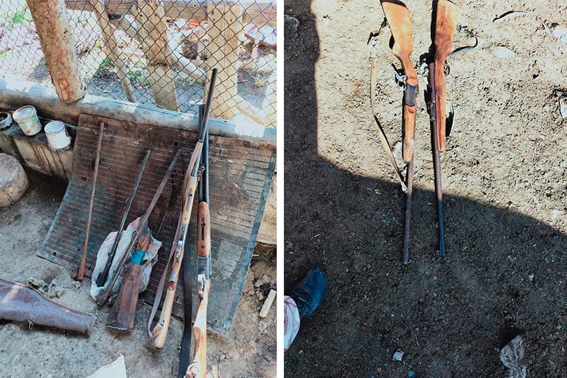 Целый арсенал оружия обнаружили у пастуха в Алматинской области