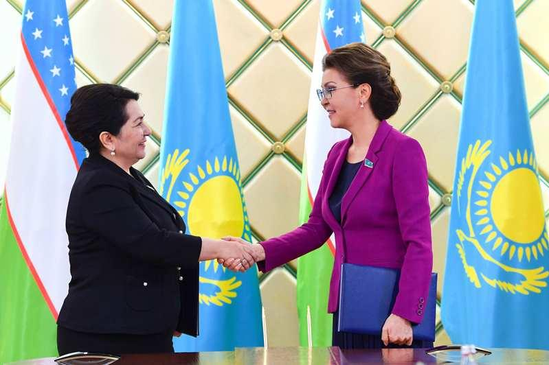 纳扎尔巴耶娃会见乌兹别克斯坦参议院议长