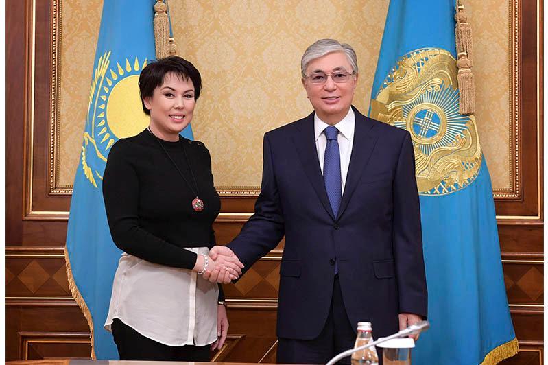 托卡耶夫总统接见哈萨克斯坦儿童权益代表