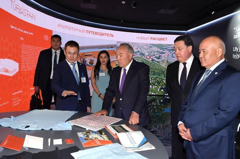 Qazaqstanda taǵy bir úlken qala boı kóteredi: Nursultan Nazarbaev jańarǵan Túrkistandy aralady
