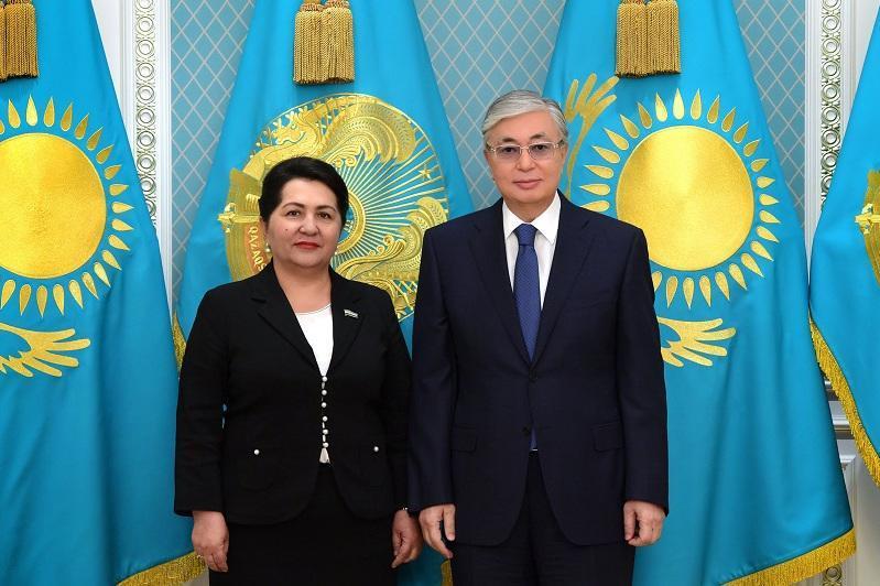 托卡耶夫会见乌兹别克斯坦参议院议长