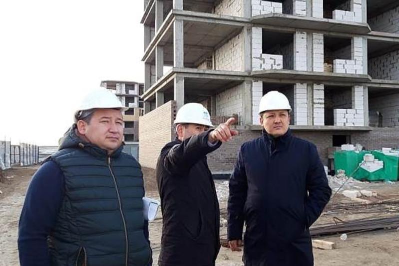 Строительство нового микрорайона «Жастар» проинспектировал аким Атырау