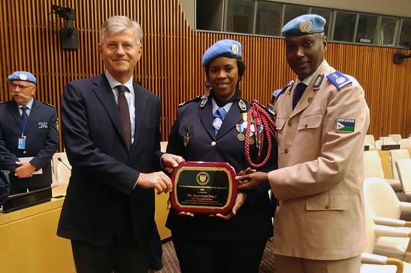 联合国颁发2019年度杰出维和女警察奖