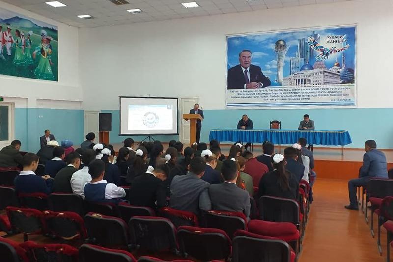 Túrkistan oblysynda ótken «Adaldyq saǵatyna» 40 myńǵa tarta jas býyn qatysty