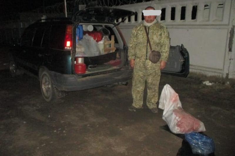 Браконьер с тушей косули, рыбой и дичью задержан в Павлодарской области