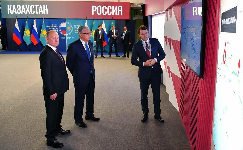 哈俄总统对两国一系列联合项目进行了解