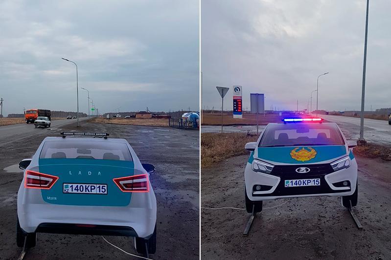 СҚО жолдарына патрульдік автокөліктердің макеті қойылды