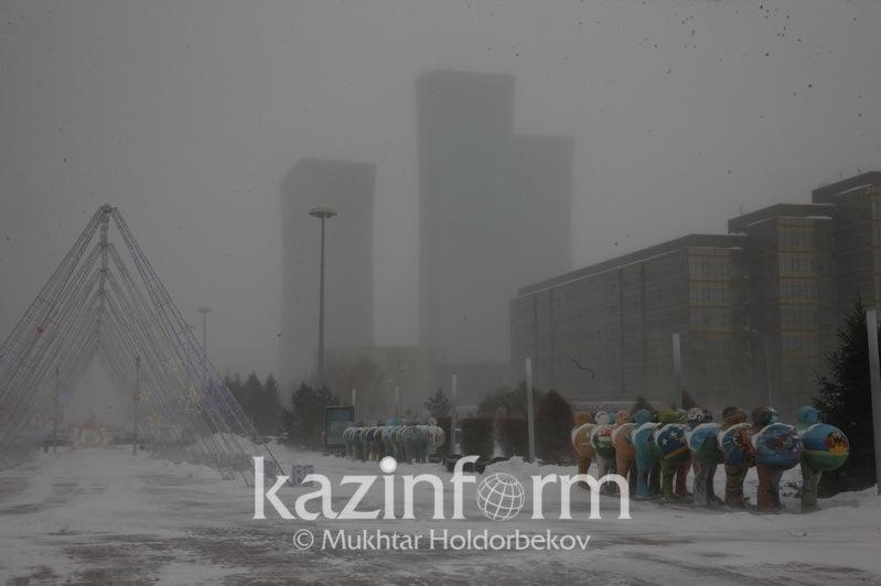 Kazakh capital braces for blizzard, fog and black ice