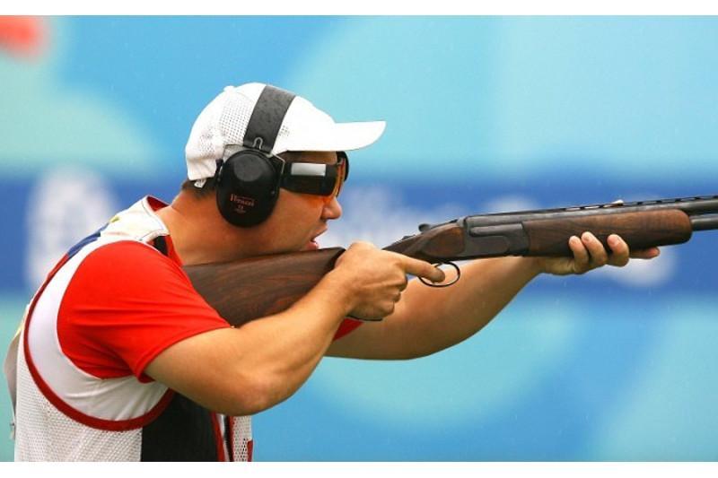 Казахстанец вошел в четверку сильнейших на ЧА по стендовой стрельбе