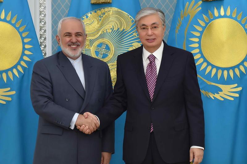 Президент Казахстана принял министра иностранных дел Ирана