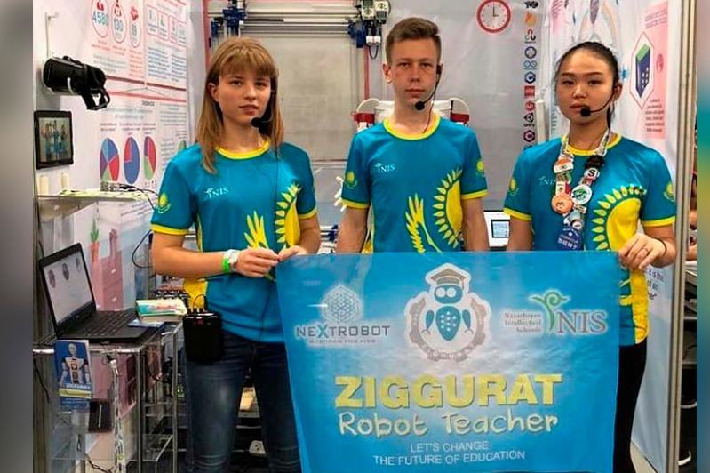 دۇنيەجۇزىلىك روبوتتار وليمپياداسىنان قازاقستاندىق وقۋشىلار قولا مەدال الدى