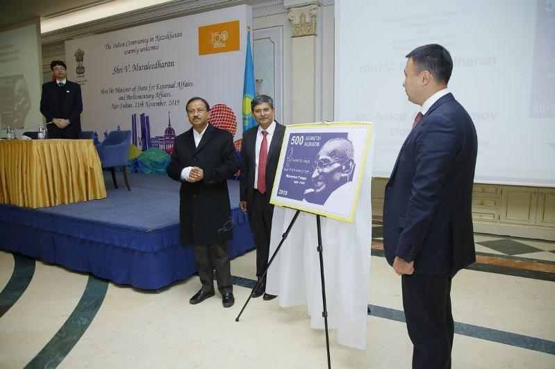 Kazakhstan released postage stamp to honour Gandhi on the