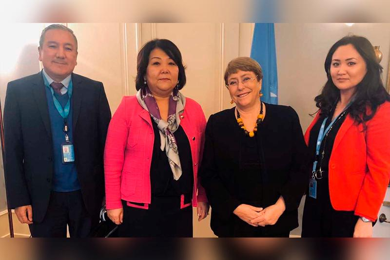 Permanent Representative of Kazakhstan meets with UN High Commissioner for Human Rights