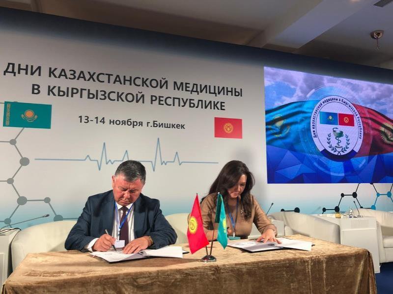 Қазақстандық медициналық ұйым Қырғызстанның 2 орталығымен меморандумға қол қойды