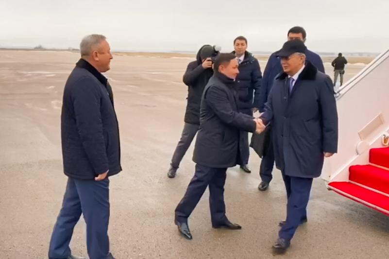 Kazakh President arrives in Kokshetau