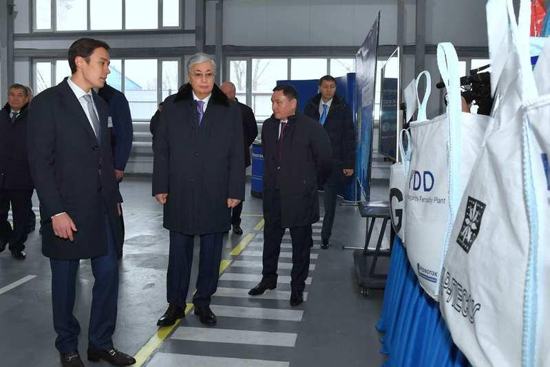 Head of State familiarizes with the work of Novopek LLP