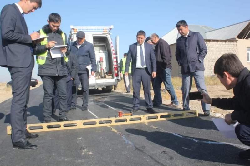 Ордабасы ауданында жолдардың сапасынамониторингтік бақылау жүргізілді
