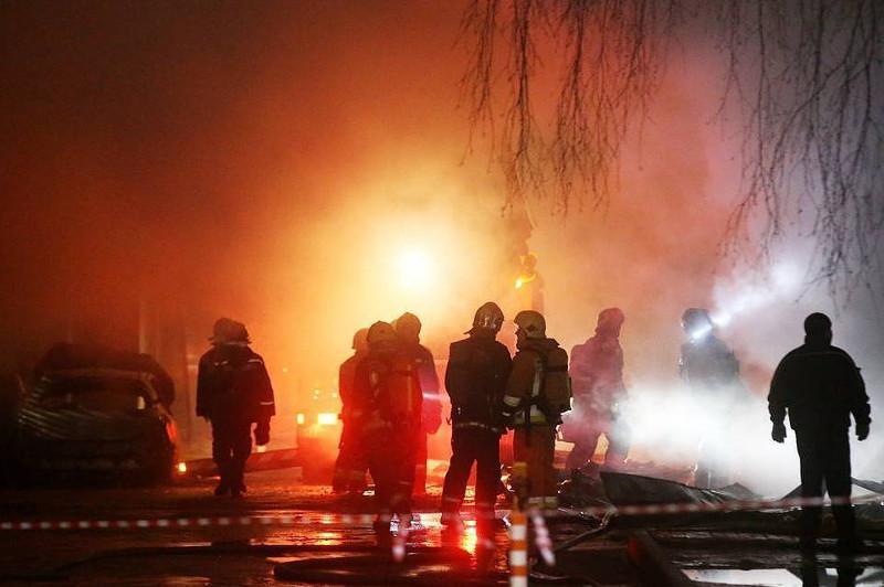 莫斯科居民楼爆炸引发大火 2人受伤50人被疏散