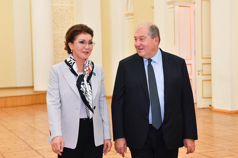 Дарига Назарбаева и Армен Саркисян договорились о новых направлениях сотрудничества между Казахстаном и Арменией