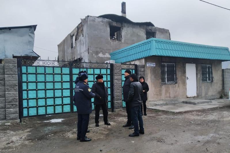 Алматы облысында өрттен қаза тапқандардың отбасына көмек көрсетіледі