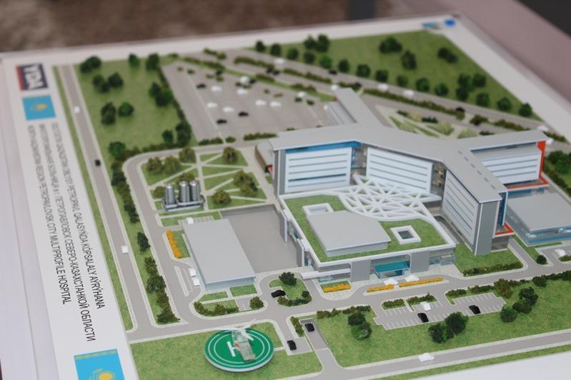 Капсулу под строительство многопрофильной больницы заложили в Петропавловске