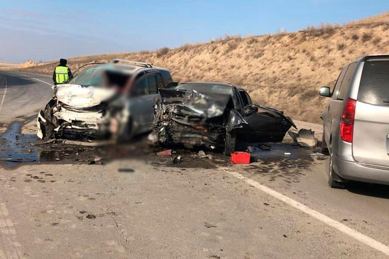 Woman killed in three-vehicle crash in Almaty rgn