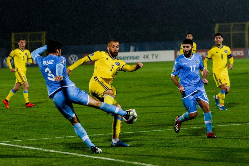 Сборная Казахстана за 20 минут победила Сан-Марино в отборе на ЕВРО-2020