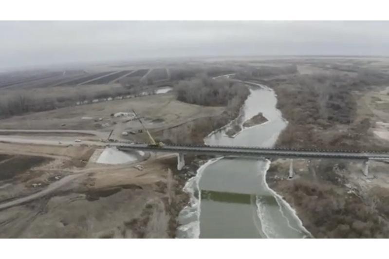 Новый автомобильный мост через реку Ишим открыли в СКО