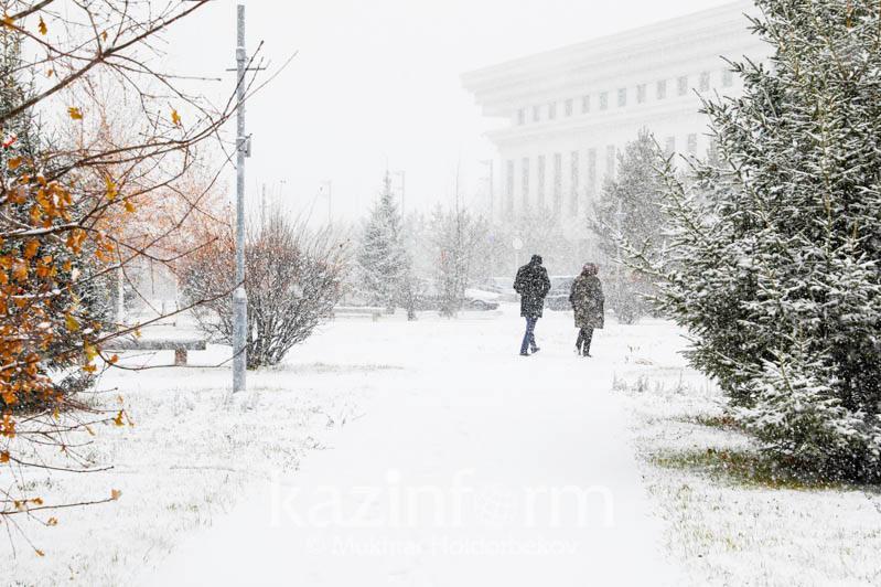 В Нур-Султане 19 ноября ожидаются снег и метель